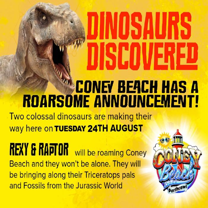 DINOSAURS AT CONEY BEACH
