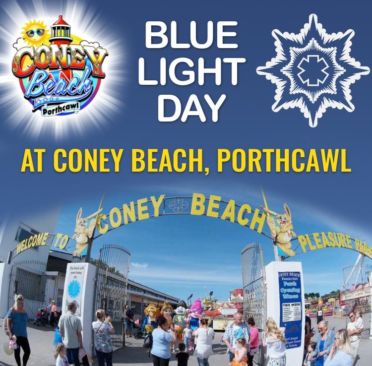 BLUE LIGHT DAY AT CONEY BEACH, PORTHCAWL